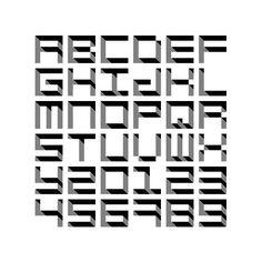 Pixel8 es un proyecto tipográfico creado por el estudio barcelonés de diseño Device que juega con los píxeles de forma individual n Photoshop para crear una fuente geométrica con un curioso efecto de profundidad.