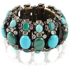Iradj Moini Malachite and Turquoise Segment Bracelet