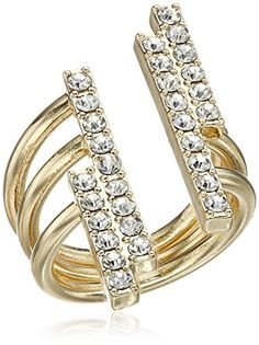 BCBGeneration Pave Bar Open Ring Size 7 >>> To view further for this item, visit the image link. (This is an affiliate link) Open Ring, Bar Set, Stacking Rings, Bcbgeneration, Plating, Image Link, Note, This Or That Questions, Amazon