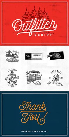 Outfitter - retro script typeface font