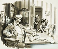 "The Pickwick Papers by Charles Dickens ~ ""I fear that a duel is going to be fought here,"" said a distressed Miss Witherfield. ""In Ipswich, ma'am - a duel in Ipswich?"" the magistrate replied aghast.                #reading #books #literature #classic"