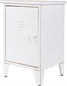 Nachtkastje Max - Links - Wit - Woood Home Design, Filing Cabinet, The Hamptons, Nightstand, Lockers, Storage, Furniture, Home Decor, Purse Storage