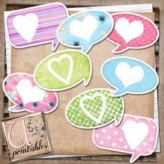 U printables by RebeccaB: FREE printable - Valentine Bubbles