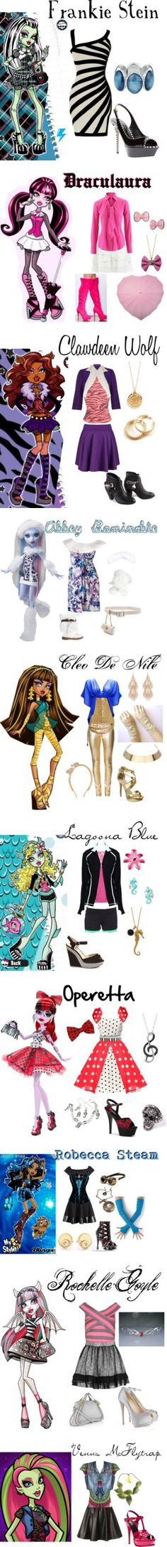 """Monster High"" by bluetidegirl on Polyvore"