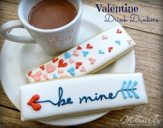Valentine's Day Drink Dippers by Melissa Joy Cookies