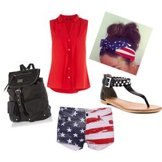 4th of July inspired outfit. by alleyswag on Polyvore