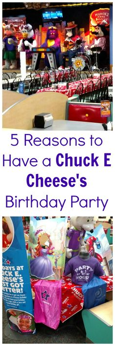 5 Reasons to Have a Chuck E Cheese's Birthday Party. #ChuckECheese #ad #parties