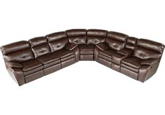 picture of Bristol Bay Coffee Blended Leather 3 Pc Sectional  from Sectionals Furniture