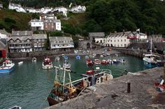Clovelly Harbour, Devon, England