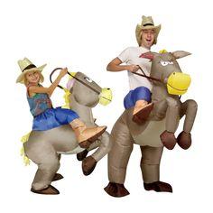 Meilleure vente gonflable cowboy costume de Dinosaure Tour sur cheval Fantaisie…