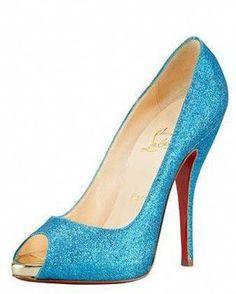 791c282fb5133d christian louboutin wedding shoes  something blue    ChristianLouboutin  Sparkly Louboutins