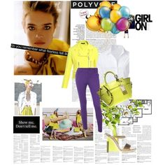 Spring Look!!!, created by #ester-ludwig on #polyvore. #fashion #style STEFFEN SCHRAUT Christopher Kane