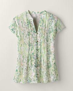 Leaf botanical shirt