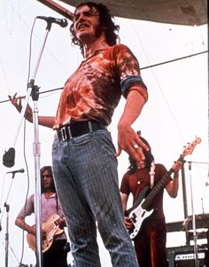 Musician Joe Cocker performs for the thousands of people attending the Woodstock Festival of Arts and Musik at Bethel, New York August 1969.