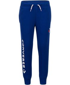 Converse Big Boys Star Chevron Logo Jogger Pants - Blue S (8/10)