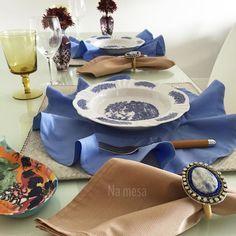 Amamos azul na mesa linda composição para inspirar você  Encomenda: whats 71991876897 ou namesa.contato@gmail.com by namesa_