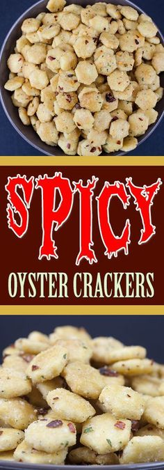 Spicy Seasoned Oyster Crackers - WARNING: These babies are ADDICTIVE!