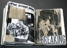 Collages on pages