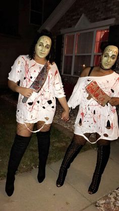 Disfarces Halloween, Group Halloween Costumes For Adults, Mascaras Halloween, Best Friend Halloween Costumes, Hallowen Costume, Halloween Outfits, Halloween Costumes For Bestfriends, Halloween Kleidung, Maquillage Halloween