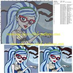 Schema punto croce Ghoulia (Monster High)