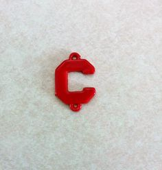 USC Gamecocks Inspired Red Collegiate C Link Charm 20mm by BeadsNBrushes on Etsy