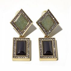 """Heidi Daus """"What's Your Angle"""" Crystal Drop Earrings"""