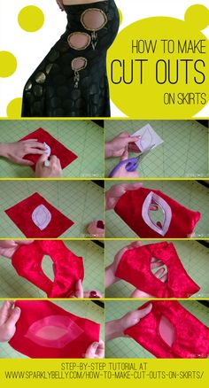 How to Make Cut Outs on Skirts - SPARKLY BELLY