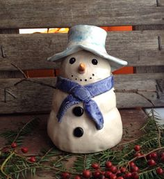 Handmade Snowman with real stick arms on Etsy, $16.00
