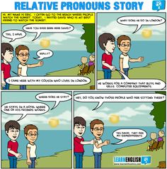 Relative pronouns story   Learn English With Comics