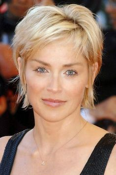 Sharon Stone Pixie Hair