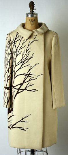 "aurelia Wool coat by Bill Blass for Maurice Rentner, American, 1967. Label: ""Mr. John"