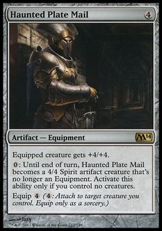 Magic the Gathering Card Reviews: Haunted Plate Mail from Magic 2014 Core Set - #mtg