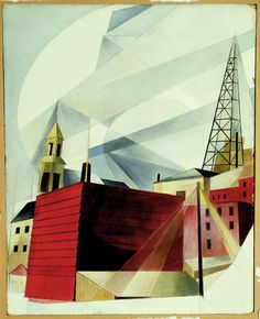 """landscape"" painting by: CHARLES DEMUTH"
