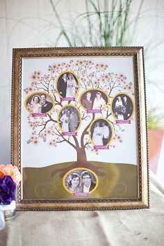 Really cute idea for the reception table or the guest book table at the wedding.