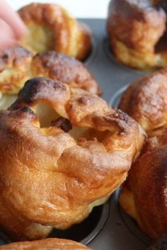 Yorkshire Puddings - Yorkshire Puddings are an absolute roast dinner staple & thankfully they couldn't be easier to ma - Yorkshire Pudding Recipes, Best Yorkshire Pudding Recipe Jamie Oliver, Yorkshire Pudding Dessert, Gordon Ramsay Yorkshire Pudding, Easy Yorkshire Pudding Recipe, Yorkshire Pudding Tin, How To Make Yorkshire Pudding, Baking Recipes, Dessert Recipes
