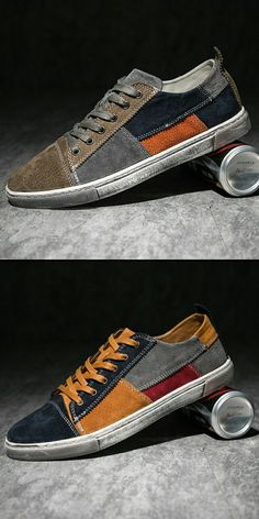 $26.98 <Click to buy> Vintage Spring Autumn Men Canvas Shoes Casual Style
