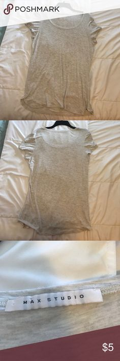Light Gray Tee Shirt Plain and simple. A light gray t-Shirt. Perfect condition. No tears or any defects in general . Max Studio Tops Tees - Short Sleeve