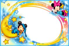 Kids Transparent Photo Frame Good Night Mickey Mouse