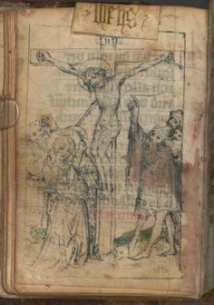 #dutch #mss Gebetbuch, niederalemannisch - BSB Cgm 8724, [S.l.], 1. Hälfte 15. Jh. [BSB-Hss Cgm 8724] 62v so much more attention to the torture/crucifixion
