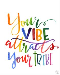 vibe attracts your tribe digital print by LucysLettering on Etsy