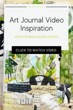 Looking for art journaling inspiration? Check out this video where artist, Roben-Marie Smith shares her process for visual art journaling with paper collage and mixed media. Jump start your creativity! Art Journal Pages, Art Journaling, Mixed Media Tutorials, Art Journal Techniques, Handmade Journals, Handmade Books, Black And White Drawing, Process Art, Stencil Art