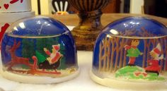Yep, we had some of these snow globes.  Still have one, but the water has leaked out over the years.  Loved them...