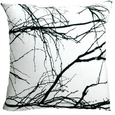 Branch Scatter cushion - black & white - BLACK & WHITE adds sophistication and drama. Available at sourced4you.com.au