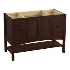 "Marabou 48"" Vanity Base with 2 Doors and 4 Drawers, Split Top Drawers"