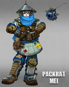 overwatch meimeis and chill thread: Cheers love, the cavalry is queer! Overwatch Costume, Overwatch Comic, Overwatch Fan Art, Overwatch Female Characters, Overwatch Skin Concepts, Mei Overwatch Skins, Character Concept, Character Design, Videogames