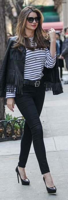 Miranda Kerr: Sunglasses – Celine  Jacket – Saint Laurent  Shirt – VELVET x Lily Aldridge