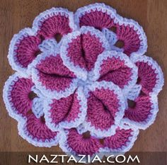 Crochet flower hotpad potholder