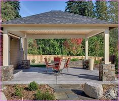 Free Standing Patio Cover Ideas With 10 Samples Ideas. #design #plans  #HowtoBuild