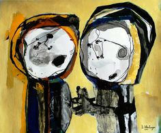 Two Figures / Twee Figuren by Reinder Oldenburger | Artfinder