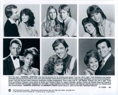 Some of the greatest couple in General Hospital's golden era. Genie Francis, Luke And Laura, Richard Dean Anderson, Rick Springfield, Hospital Photos, Tv Soap, Best Soap, Tv Couples, General Hospital